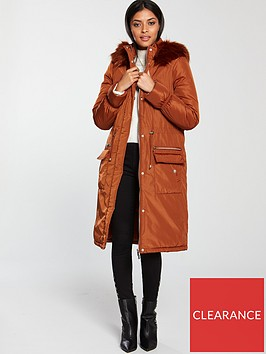v-by-very-patch-pocket-premium-parka-burnt-orange