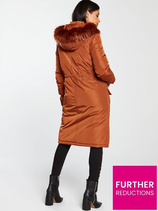 0de2baca4685 V by Very Patch Pocket Premium Parka - Burnt Orange | very.co.uk