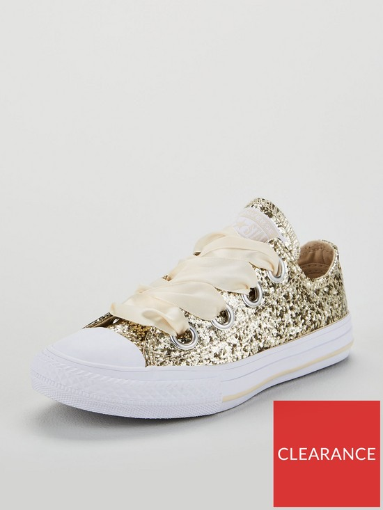 1b31c54b45f9 Converse Converse Chuck Taylor All Star Big Eyelets Glitter Junior - Ox