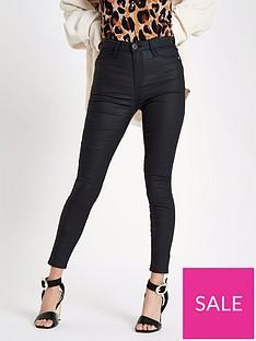 288735f867d957 Black | Skinny Jeans | River island | Jeans | Women | www.very.co.uk