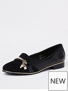 river-island-river-island-lock-key-patent-loafers-black