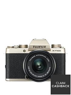 fujifilm-x-t100nbsp242mp-3nbspinchnbsptilt-lcd-4k-camera-with-xc-15-45mm-black-lens-kit