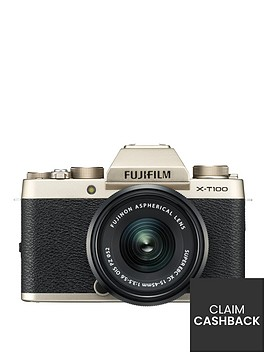 fujifilm-x-t100nbsp242mp-3nbspinchnbsptilt-lcd-4k-camera-with-xc-15-45mm-black-lens-kit