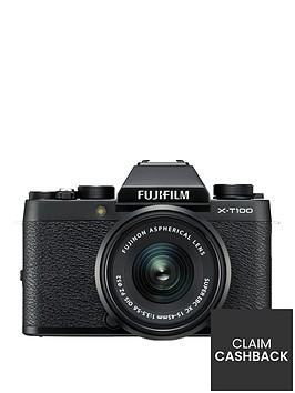 fujifilm-x-t100nbspmirrorlessnbsp242mpnbsp3-inch-tilt-lcd-4k-digital-camera-black-with-xc-15-45mm-black-lens-kit