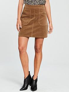 warehouse-cord-pocket-detail-skirt-tan