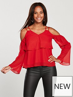 v-by-very-cold-shoulder-top-red