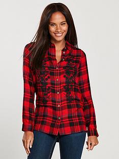 v-by-very-embroidered-check-shirt-redblack