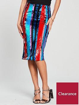 v-by-very-sequin-stripe-pencil-skirt-multi