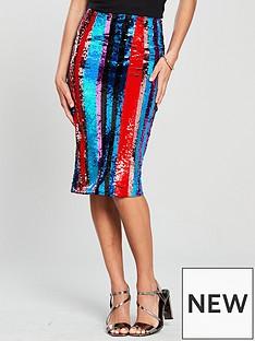 v-by-very-sequin-stripe-skirt