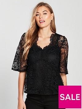 v-by-very-crochet-scalloped-lace-blouse-black