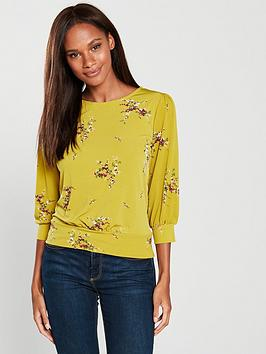 warehouse-warehouse-floral-print-balloon-sleeve-top