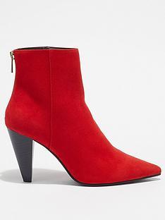 miss-selfridge-cone-heel-boot-red