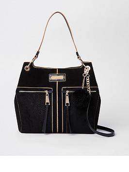 river-island-pocket-front-slouch-bag-black