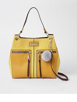 river-island-river-island-pocket-front-slouch-bag-yellow