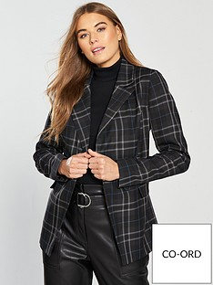v-by-very-checkered-printnbsplongline-blazer-multi