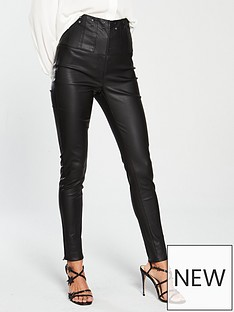v-by-very-coated-studded-high-waisted-trouser-black