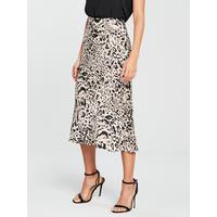 70dcb6137b Shoptagr | Print Midi Skirt Mono by River Island