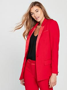 v-by-very-statement-tux-suit-jacket-red