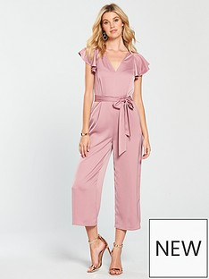 warehouse-frill-sleeve-twist-back-jumpsuit-light-pink