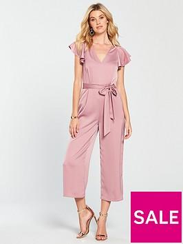 warehouse-frill-sleeve-twist-back-jumpsuit-light-pink