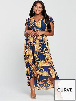 ax-paris-curve-curve-mirror-print-maxi-dress