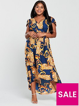 ax-paris-curve-mirror-print-maxi-dress