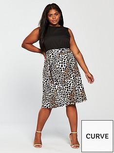ax-paris-curve-2-in-1-midi-dress-leopard-print