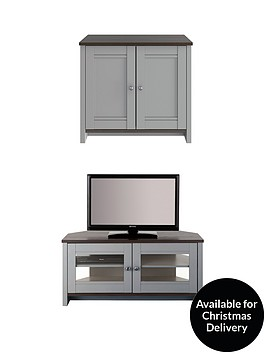 consort-tivoli-new-2-piece-package-ready-assembled-2-door-sideboard-and-corner-tv-unit-greywalnut-effect