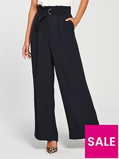 oasis-d-ring-wide-leg-trouser-navy