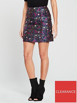 oasis-jacquard-ditsy-mini-skirt-floral-printnbsp