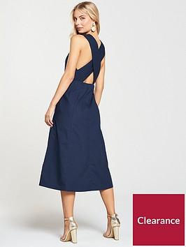 warehouse-cross-back-midi-dress-navy