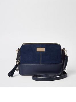 river-island-triple-compartment-crossbody-bag--navy