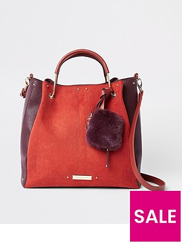 river-island-metal-handle-slouch-bag-red