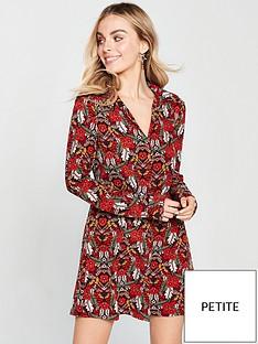 ax-paris-ax-paris-petite-floral-printed-shirt-dress