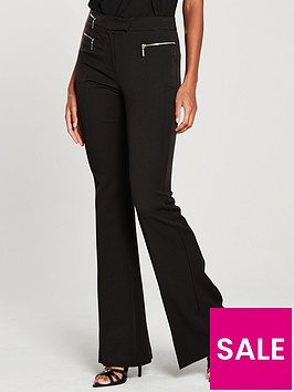 v-by-very-zip-flare-trousers-black