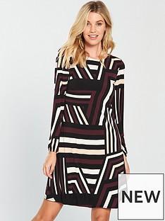 wallis-colour-block-swing-dress