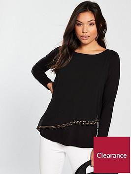 wallis-asymmetric-stud-layerednbsptop-black