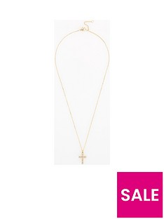 v-by-very-allera-rhinestone-cross-necklace-gold