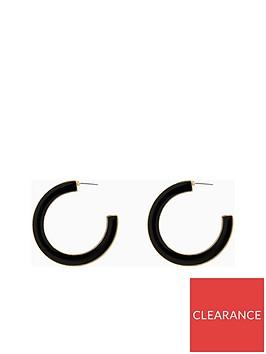v-by-very-ask-enamel-hoop-earrings-blackgold