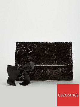 v-by-very-khloe-velvet-sequin-fold-over-clutch-black