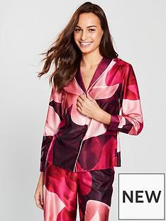 ted-baker-porcelain-rose-revere-pyjama-top-wine