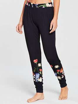 b-by-ted-baker-kensington-floral-jersey-pj-pant-navy