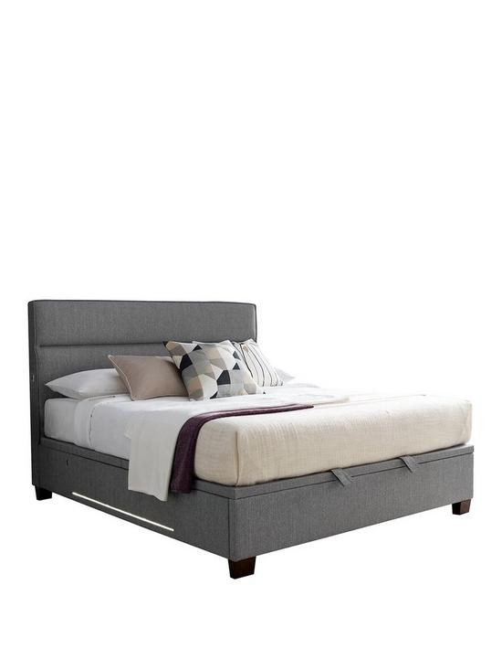 73bd3977f556 Tokyo Ottoman Storage Bed with Mattress Options, USB Charging, Lights and  Optional Next Day Delivery | very.co.uk