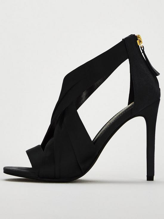 cf29a4df70c ... V by Very Brandy Satin Cross Strap Heeled Sandal - Black. Purchased 6  times in the last 48 hrs.