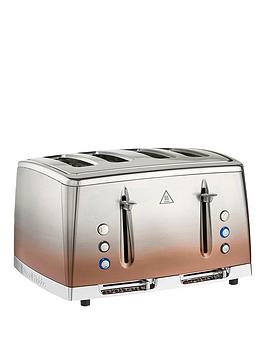 Russell Hobbs Eclipse 4 Slice Copper Sunset Stainless Steel Toaster - 25143