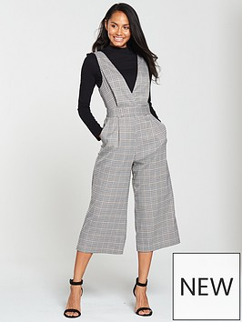 miss-selfridge-check-pinny-jumpsuit