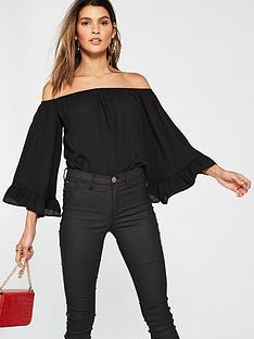 v-by-very-fluted-bardot-bodysuit-black