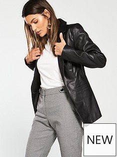 v-by-very-faux-leather-blazer-black