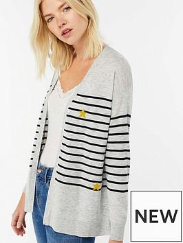monsoon-sofie-stripe-novelty-cardigan-grey-marl