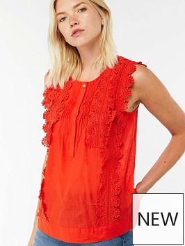 monsoon-anais-lace-sleeveless-top-orange